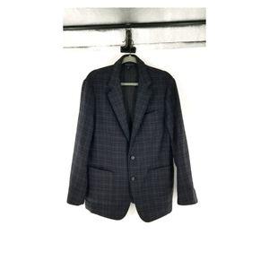 Hugo Boss Virgin Wool Plaid Unlined  Sport Jacket